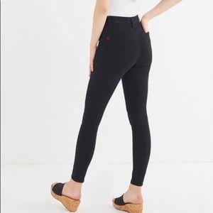 BDG Drainpipe High Rise Black Skinny Jeans Sz 25